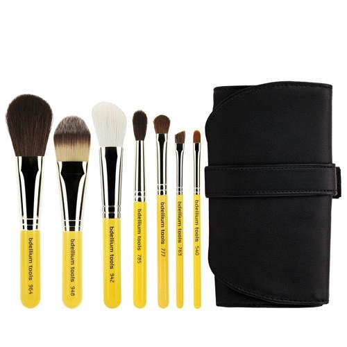 Travel Basic 7pc. Brush Set with Roll-up Pouch - Bdellium Tools