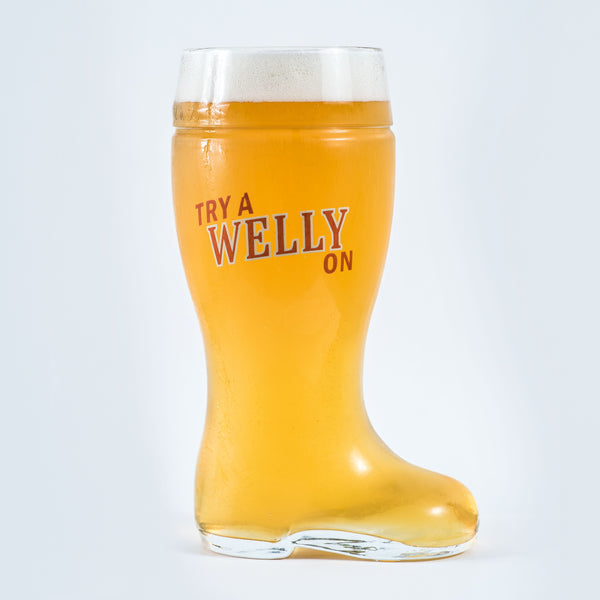 Welly Beer Boot Glass (1L)