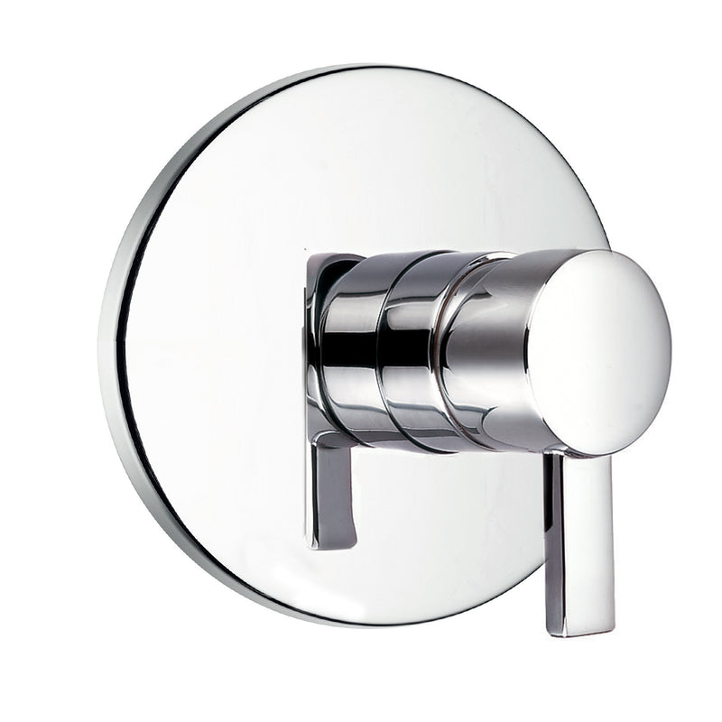 DAX Round Shower Single Valve Trim, Brass Body, Brushed Nickel Finish, 6-5/8 x 6-5/8 Inches (DAX-8303B-BN)