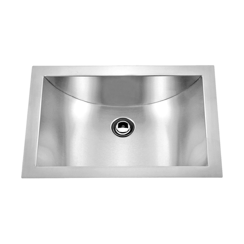 DAX Handmade Single Bowl Undermount Kitchen Sink, 18 Gauge Stainless Steel, Brushed Finish, 21 x 15 x 6 Inches (DAX-SQ-114)