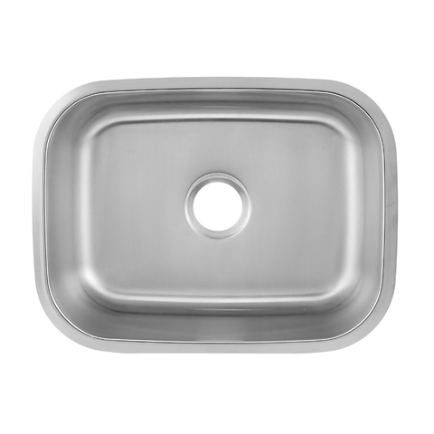 DAX Single Bowl Undermount Kitchen Sink, 18 Gauge Stainless Steel, Brushed Finish, 23-1/2 x 17-3/4 x 9 Inches (DAX-2317)