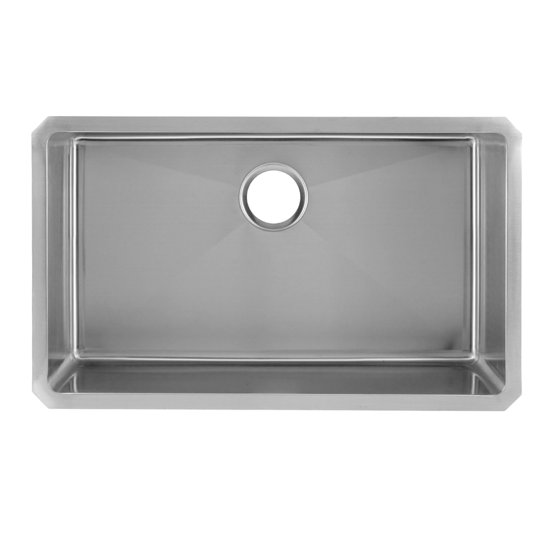 DAX Single Bowl Undermount Kitchen Sink, 18 Gauge Stainless Steel, Brushed Finish , 30 x 18 x 9 Inches (DAX-3018B)