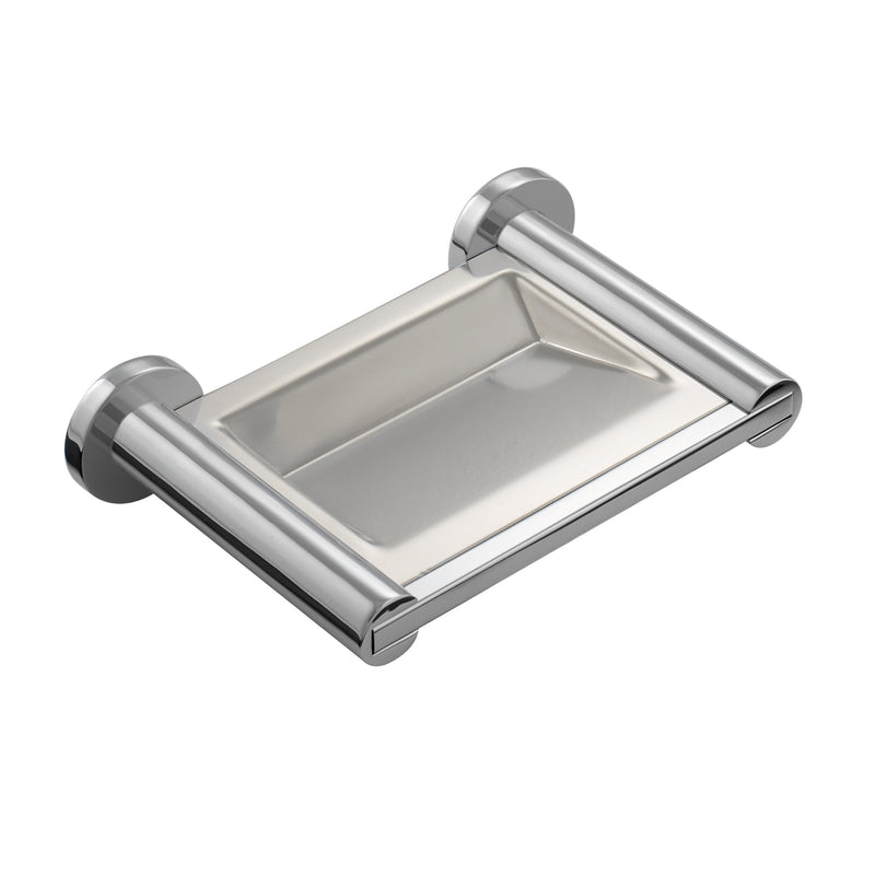 COSMIC Architect Soap Dish, Wall Mount, Stainless Steel, Chrome Finish, 6-11/16 x 1-9/16 x 4-5/16 Inches (2050132)