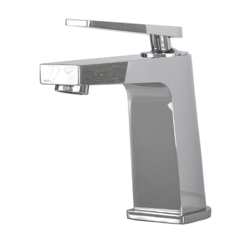DAX Single Handle Bathroom Faucet, Brass Body, Chrome Finish, 4-3/4 x 5-7/8 Inches (DAX-9802)