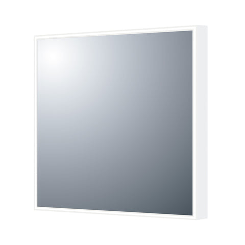 DAX Square LED Light Bathroom Vanity Mirror with Sensor Switch, Wall Mount, Aluminum Frame, 27-9/16 x 27-9/16 x 1-1/2 Inches (DAX-DL03B)