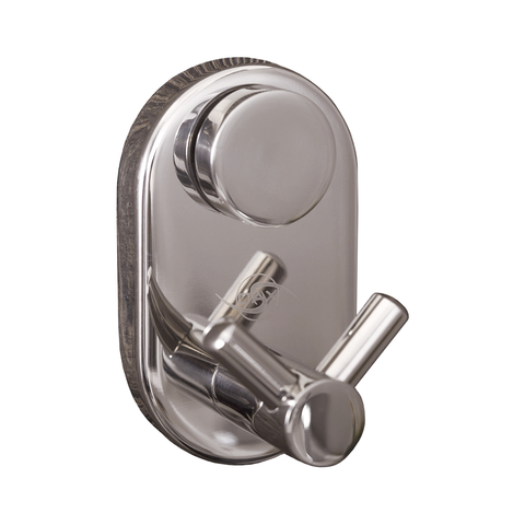 DAX Double Bathroom Hook, Wall Mount Stainless Steel, Satin Finish, 1-3/4 x 2-3/4 x 1-9/16 Inches (DAX-G0210-S)