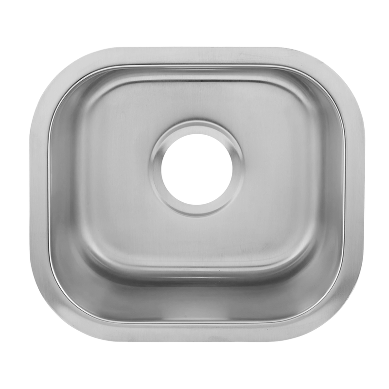 DAX Single Bowl Undermount Kitchen Sink, 18 Gauge Stainless Steel, Brushed Finish , 14-1/2 x 13 x 7 Inches (DAX-1214)