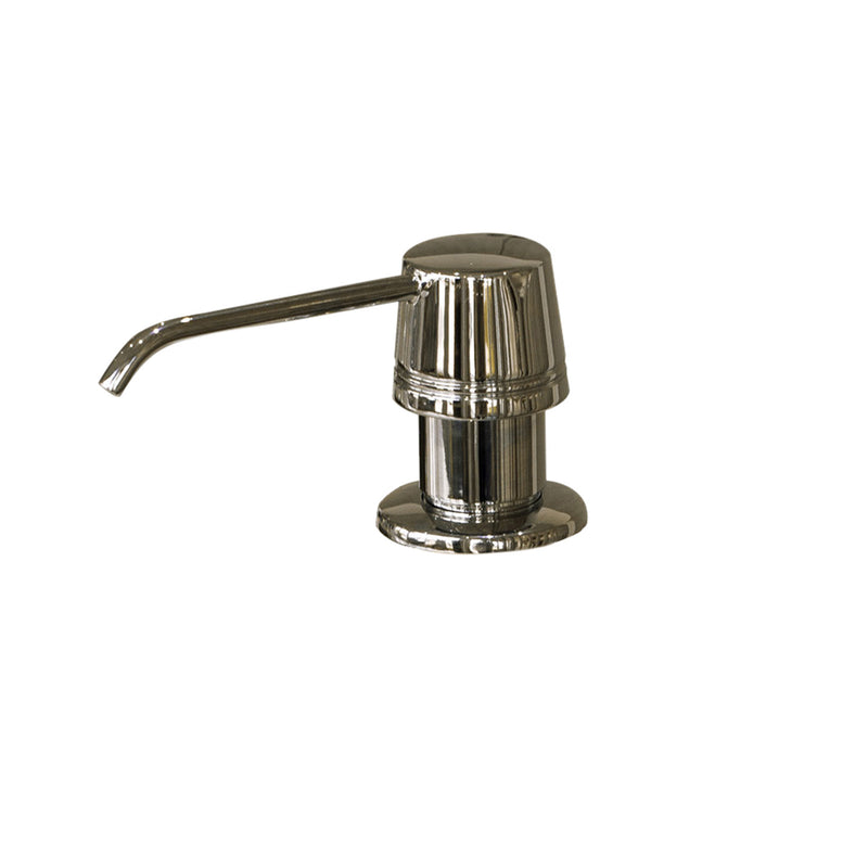 DAX Round Kitchen Sink Soap Dispenser, Deck Mount, Stainless Steel, Brushed Finish, 2-5/16 x 8-1/2 x 3-1/2 Inches (DAX-81002-BN)