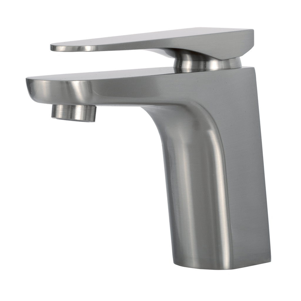 Image of: Dax Single Handle Bathroom Faucet Brass Body Brushed Finish 6 7 8 X