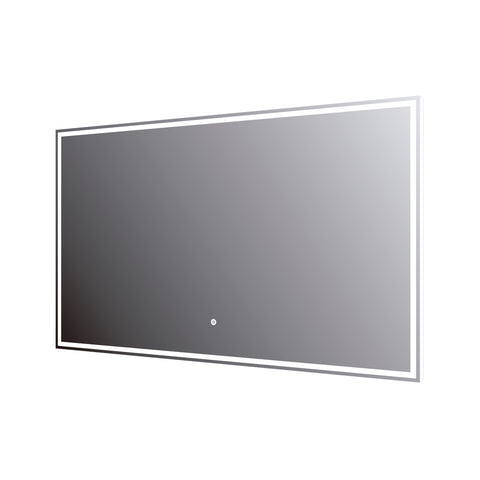 DAX LED Backlit Bathroom Vanity Mirror with Touch Sensor, 110 V, 50-60Hz, 39-3/8 x 23-5/8 x 12 5/8 Inches (DAX-DL7510060)