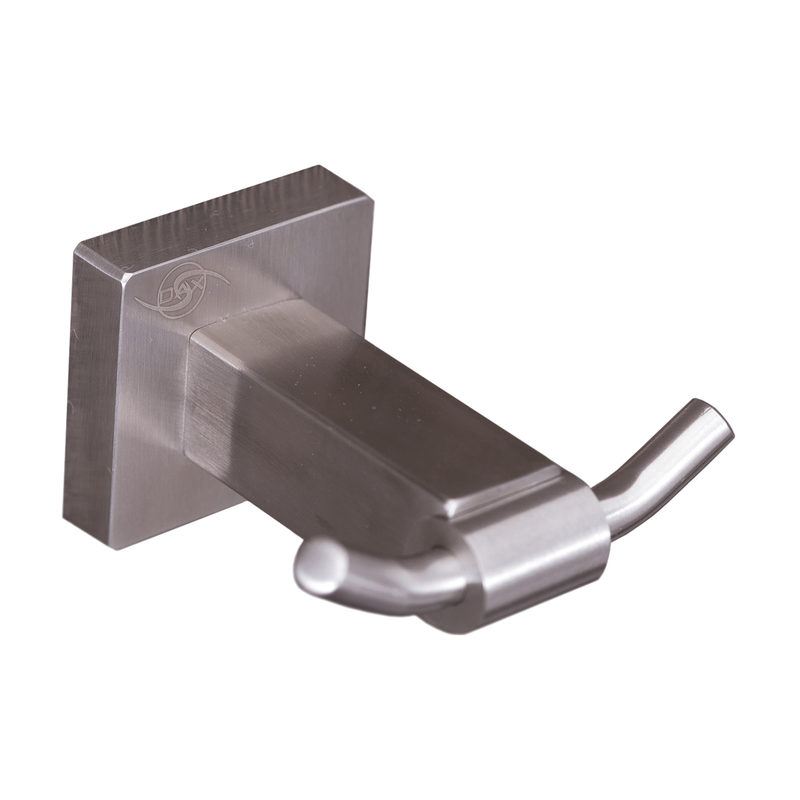 DAX Double Bathroom Hook, Wall Mount Stainless Steel, Satin Finish, 3 x 2-13/16 x 1-5/8 Inches (DAX-G0110-S)