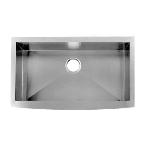 DAX Farmhouse Kitchen Sink, 16 Gauge Stainless Steel, Brushed Finish, 35-7/8 x 20 x 10 Inches (DAX-SQ-3621)