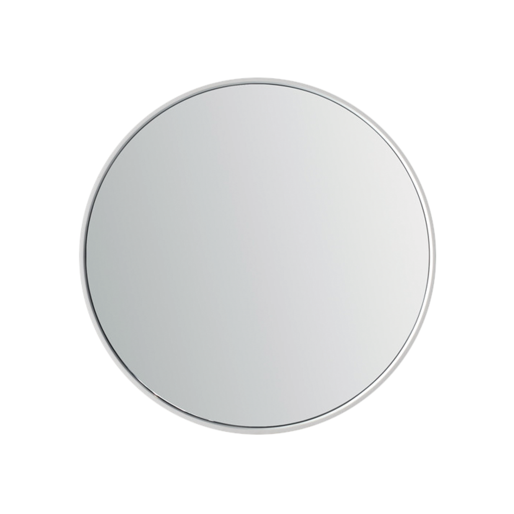 Dax Solid Surface Round Bathroom Vanity Mirror Wall Mount