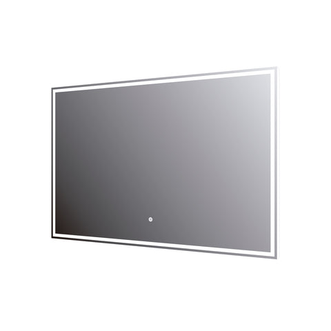 DAX LED Backlit Bathroom Vanity Mirror with Touch Sensor, 110 V, 50-60Hz, 35-7/16 x 23-5/8 x 12 5/8 Inches (DAX-DL759060)