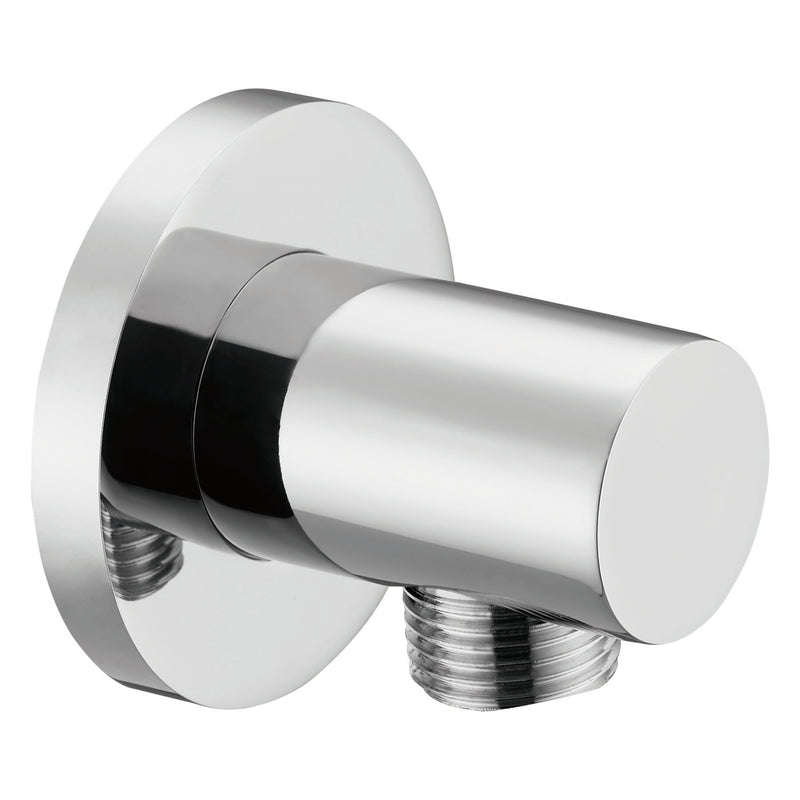 Dax Brass Round Hose Connector Chrome Finish (DAX-043-CR)