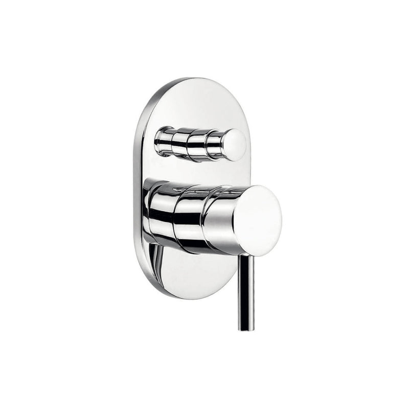 DAX Oval Shower Single Valve Trim, Brass Body, Chrome Finish (DAX-8308)