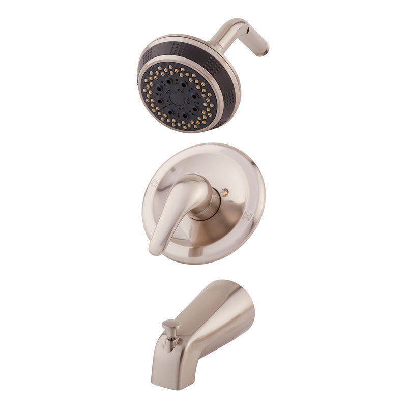 DAX Shower System, Faucet Set, with Shower and Tub Trim, Wall Mount, Brass Body, Brushed Nickel Finish (DAX-0511-BN)