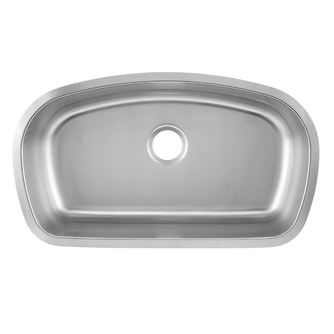 DAX Single Bowl Undermount Kitchen Sink, 18 Gauge Stainless Steel, Brushed Finish , 32-1/2 x 18-9/16 x 9 Inches (DAX-3319)