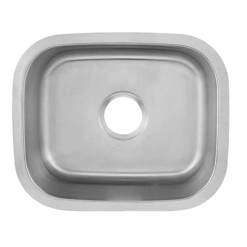 DAX Single Bowl Undermount Kitchen Sink, 18 Gauge Stainless Steel, Brushed Finish , 18 x 15 x 7 (DAX-1815)