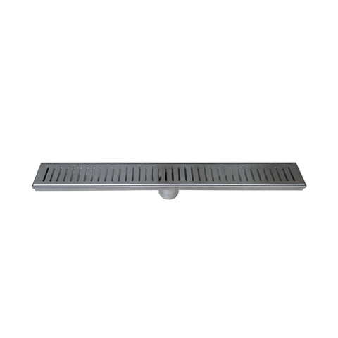 DAX Rectangle Shower Floor Drain, Stainless Steel Body, Stainless Steel Finish, 24 x 3-3/8 Inches (DR24-G06)