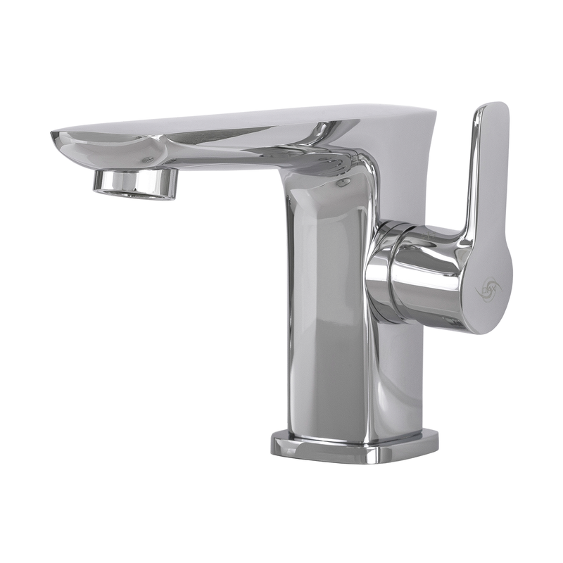 DAX Single Handle Bathroom Faucet, Brass Body, Chrome Finish, 4-3/4 x 3-15/16 Inches (DAX-9883)