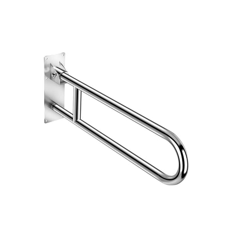 COSMIC Architect Hinged Grab Bar, Bathroom Bathtub and Shower Safety, Brass Body, Chrome Finish, 29-1/2 x 11-13/16 x 29-1/2 Inches (2900217)