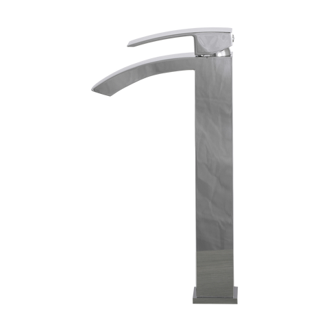 DAX Single Handle Waterfall Vessel Sink Faucet, Brass Body, Chrome Finish, 4-15/16 x 12-5/16 Inches (DAX-6690B-CR)