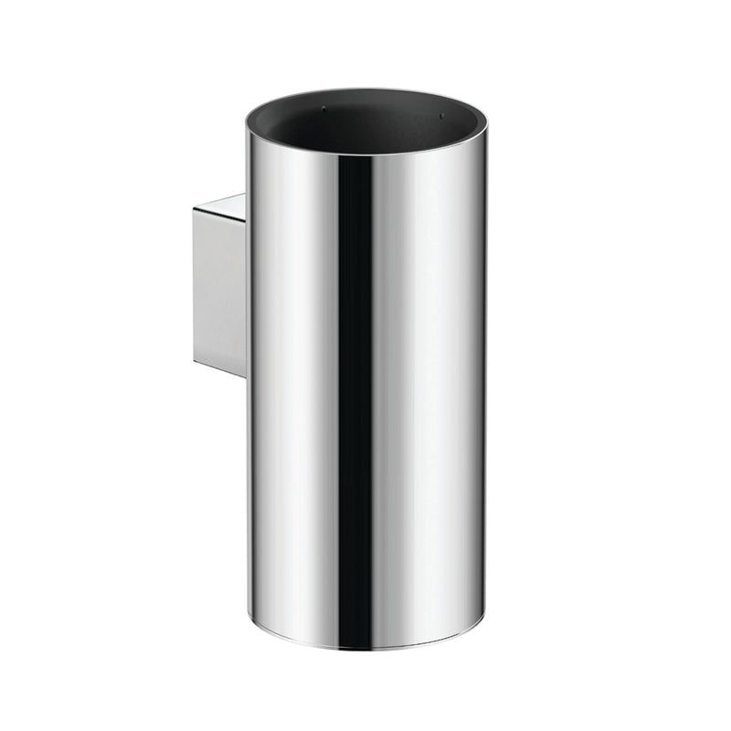 COSMIC Architect Bathroom Single Tumbler Toothbrush Holder, Wall Mount, Stainless Steel Cup, Chrome Finish, 2-7/16 x 5-1/4 x 3-7/16 Inches (2050153)