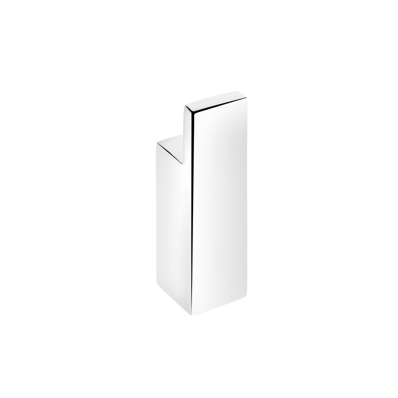 COSMIC Bathlife Single Bathroom Towel Hook, Wall Mount, Brass Body, Chrome Finish, 13/16 x 2-3/4 x 13/16 Inches (2290121)
