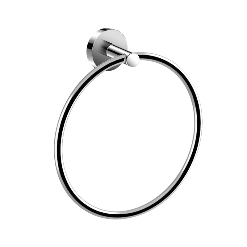 DAX Valencia Towel Ring, Wall Mount, Brass Body, Chrome Finish, 7-7/8 x 2-1/4 x 7-7/8 Inches (DAX-GDC120172-CR)