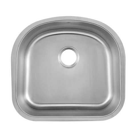 DAX Single Bowl Undermount Kitchen Sink, 18 Gauge Stainless Steel, Brushed Finish , 23-1/4 x 20-7/8 x 9 Inches (DAX-2321)