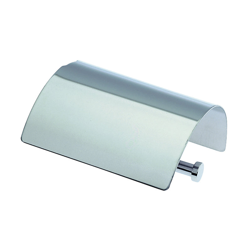 COSMIC Logic Toilet Paper Holder with Cover, Stainless Steel, Matte Chrome Finish, 6-5/16 x 2-3/8 x 4-3/4 Inches (2260359)