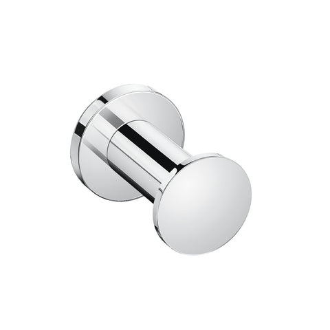 COSMIC Architect Single Bathroom Hook, Wall Mount, Brass Body, Chrome Finish, Ø1-9/16 x 2 Inches (2050121)