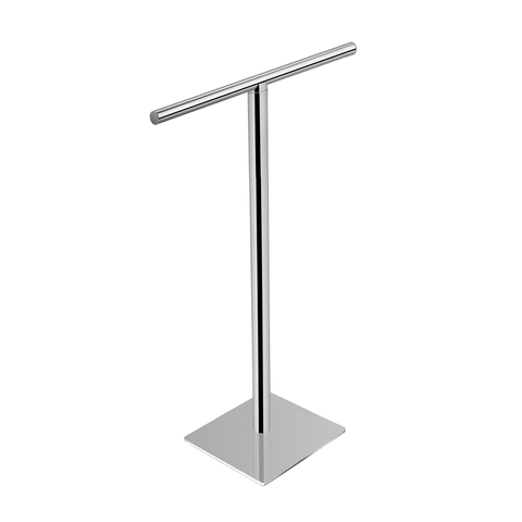 COSMIC Project Standing Towel Rack, Brass Body, Chrome Finish, 23-5/8 x 30-5/8 x 7-7/8 Inches (2510167)