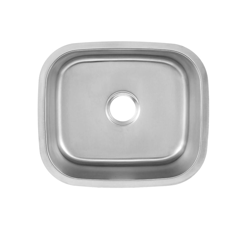 DAX Single Bowl Undermount Kitchen Sink, 18 Gauge Stainless Steel, Brushed Finish , 20-3/4 x 17-3/4 x 9  (DAX-1720)
