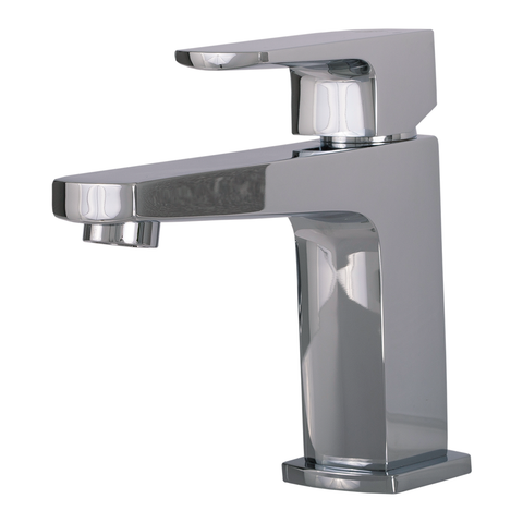 DAX Single Handle Bathroom Faucet, Brass Body, Chrome Finish, 4-3/4 x 5-11/16 Inches (DAX-8209)