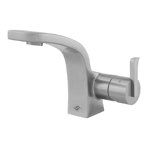 DAX Single Handle Bathroom Faucet, Stainless Steel Body, Brushed Finish, 4-13/16 x 6-1/16 Inches (DAX-010-05)