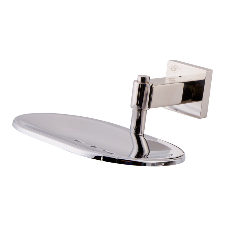 DAX Stainless Steel Soap Dish, Wall Mount Tray, Satin Finish, 6-1/8 x 2-7/16 x 5-15/16 Inches (DAX-G0105A-S)
