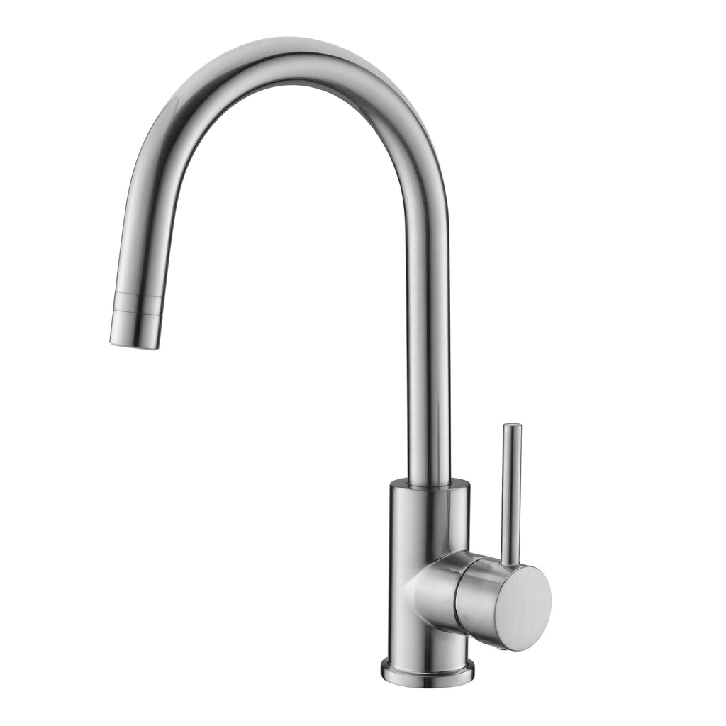 Dax Single Handle Kitchen Faucet With Swivel Spout Brass