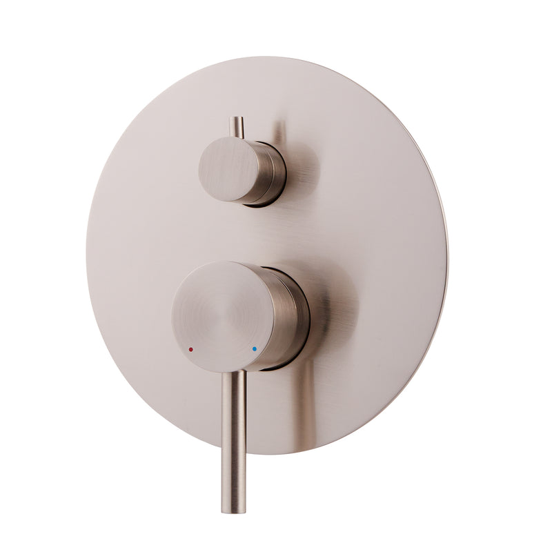 DAX Round Shower Single Valve Trim, Brass Body, Brushed Nickel Finish 7-1/2 x 4-7/16 Inches (DAX-6973-BN)