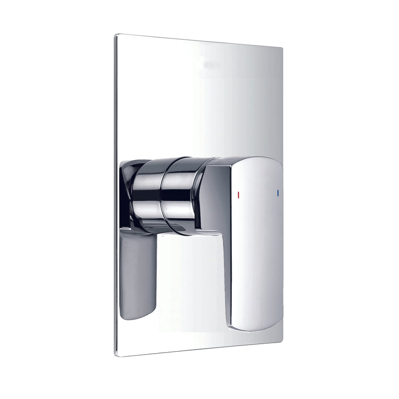 DAX Square Shower Single Valve Trim, Brass Body, Brushed Nickel Finish, 4-3/4 x 7-1/16 Inches (DAX-8303E-BN)