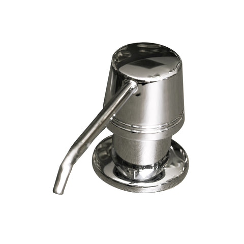 DAX Round Kitchen Sink Soap Dispenser, Deck Mount, Stainless Steel, Chrome Finish, 2-5/16 x 8-1-/2 x 3-1/2 Inches (DAX-81002-CR)