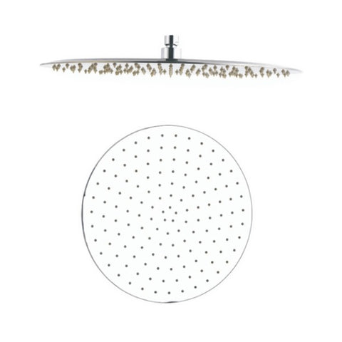 DAX Round Rain Shower Head, Ultra Thin, Brass Body, Brushed Nickel Finish (D-1240-BN)