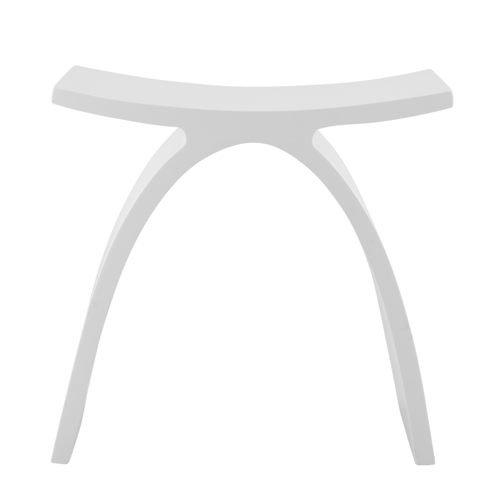 Dax Solid Surface Shower Stool Standfree Matte White