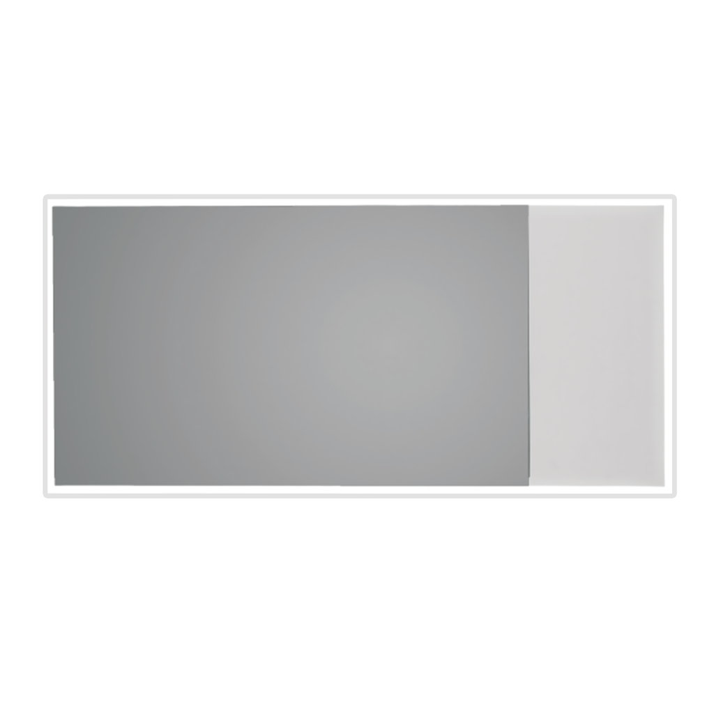Dax Solid Surface Rectangle Led Backlit Bathroom Vanity Mirror Wall M