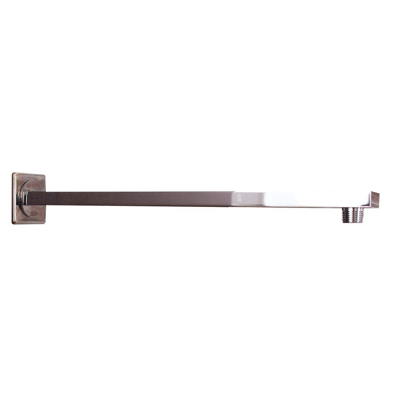 DAX Square Shower Arm, Spout, Brass Body, Wall Mount, Chrome Finish, 12 Inches (D-F20-12-CR)