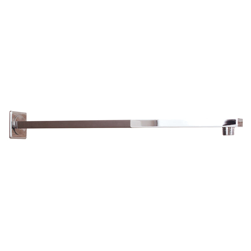 DAX Square Shower Arm, Spout, Brass Body, Wall Mount, Chrome Finish, 15 Inches (D-F20-15-CR)