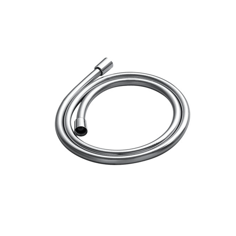 DAX PVC Shower Hose, Robber Body, Silver Finish, Connection 1/2 Inch, 59 1/16 Inches Long (D-8861B)