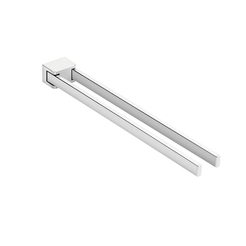 COSMIC Extreme Bathroom Towel Bar, Wall Mount, Brass Body, Chrome Finish 15-3/4 x 1-7/16 x 2 Inches (2530175)