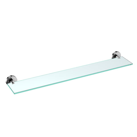 DAX Valencia Bathroom Shelf, Wall Mount, Brass Body with Tempered Glass, Brushed Finish, 24-3/16 Inches (DAX-GDC120145-BN)